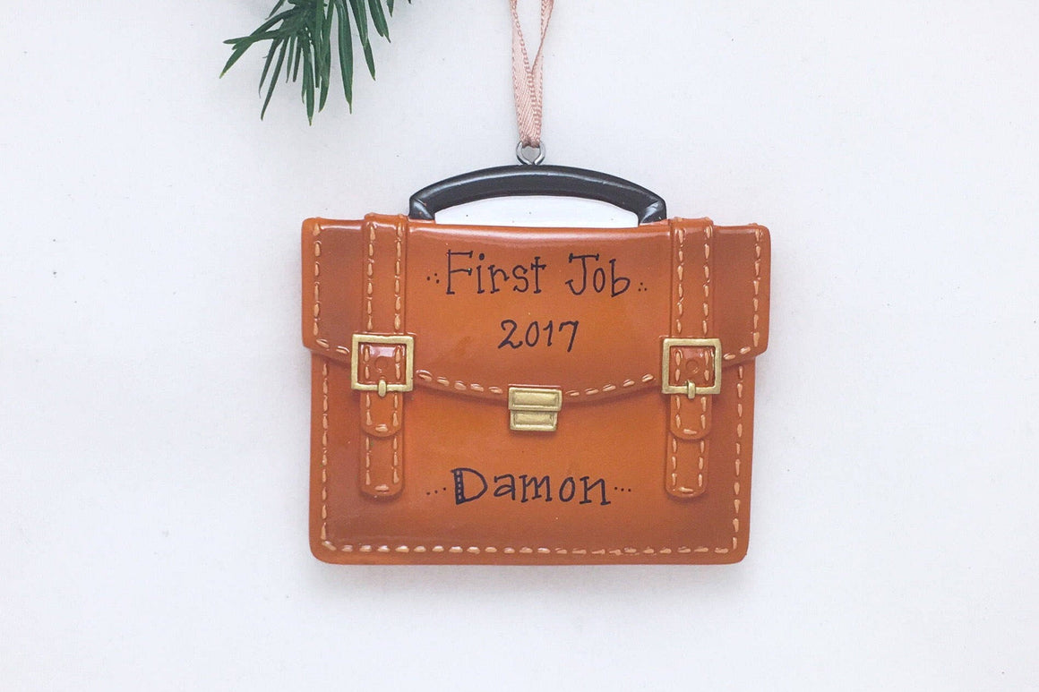 Briefcase Personalized Christmas Ornament
