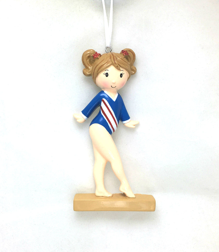 Gymnast Christmas Ornament / Gymnastics Ornament / Personalized Ornament / Gymnastics Team / Hand Personalized / Little Girl
