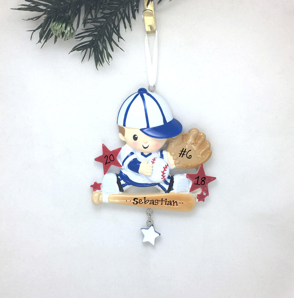 Little Slugger Christmas Ornament / Future Star / Baby / Baseball Player