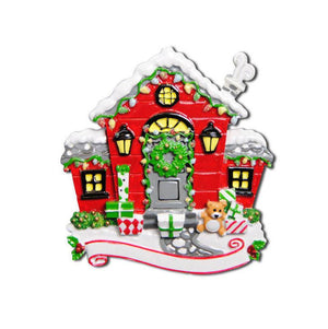 Red House Personalized Christmas Ornament / New Home / First Home / New House