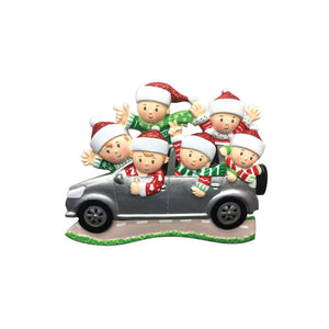 Family of 6 Road Trip Personalized Christmas Ornament
