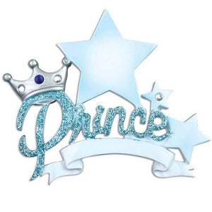 Our Little Prince Personalized Christmas Ornament / Baby's First Christmas Ornament