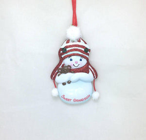 Sweet Grandson Personalized Christmas Ornament / Grandchild Ornament