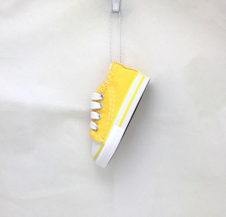 Yellow Sneaker Personalized Christmas Ornament / Court Shoes / Classic Sneakers