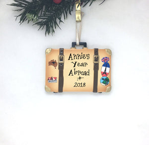 Travel Case Personalized Christmas Ornament / Suitcase / Traveler Ornament