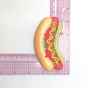 Hot Dog Personalized Christmas Ornament / Bratwurst / Hand Personalized with Name and Message