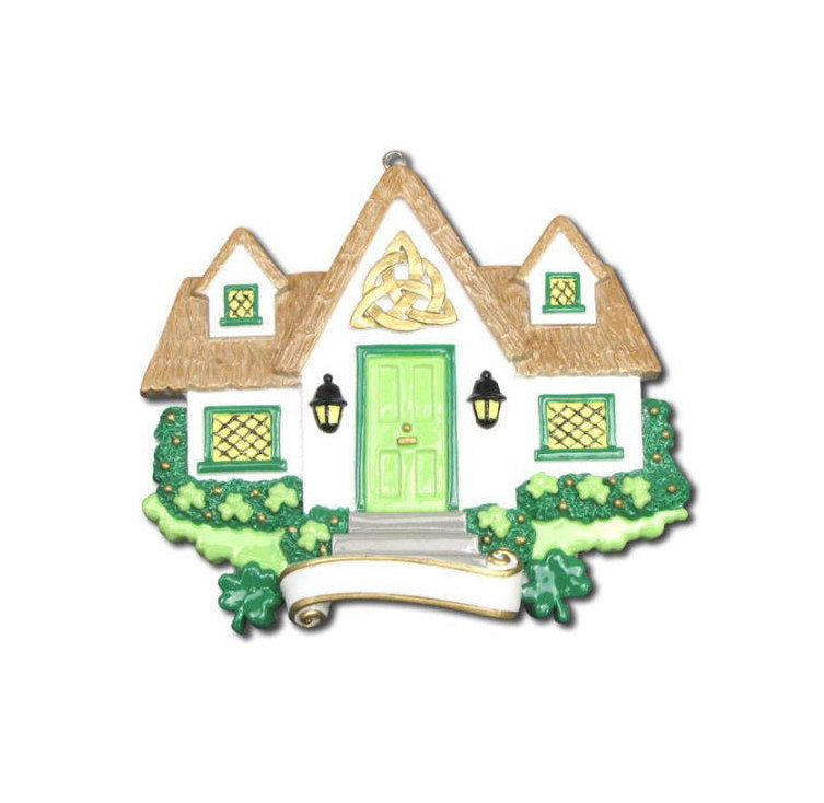 Irish Home Personalized Christmas Ornament / New Home Ornament