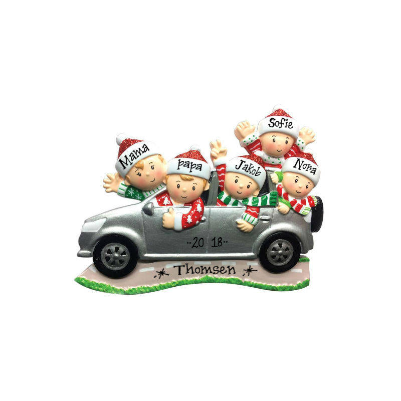 Family of 5 Road Trip Personalized Christmas Ornament