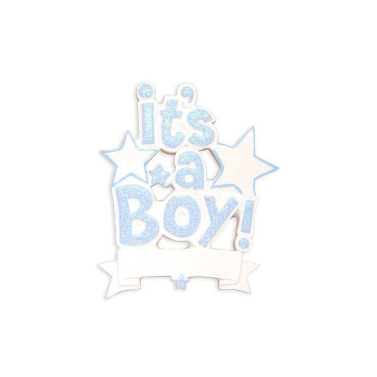 It's a Boy! Personalized Christmas Ornament / Baby's First
