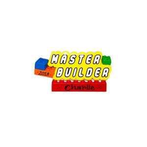 Master Builder Personalized Christmas Ornament / Building Blocks Ornament / Gift for Kids