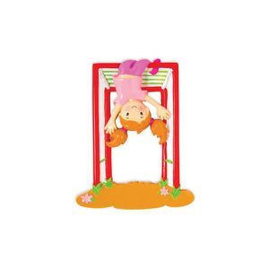 Girl on Jungle Gym Personalized Christmas Ornament / Playground / Park / Recess