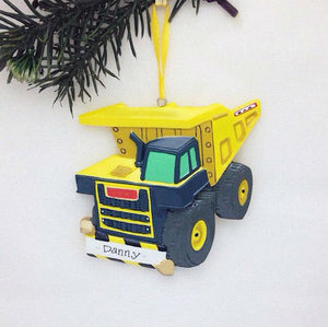 Dump Truck Personalized Christmas Ornament / Toddler Christmas Ornament / Gift for kids