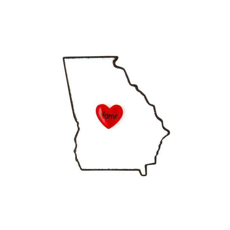 Georgia State Personalized Christmas Ornament / Home is Where the Heart Is