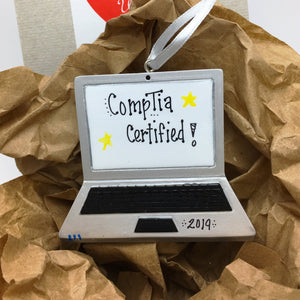 Laptop Personalized Christmas Ornament / Laptop Computer Ornament / Freelance Life / Freelancer / Writer