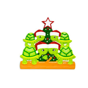 4 Turtles Personalized Christmas Ornament