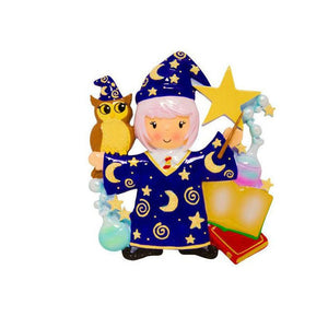 Wizard Girl Personalized Christmas Ornament / MagicOrnament / Sorceress / Gift for Kids