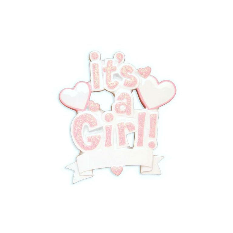 It's a Girl! Personalized Christmas Ornament