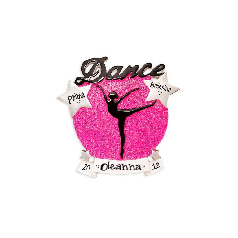 Girl Dancer Personalized Christmas Ornament / Dance Ornament / Hand Personalized Christmas Ornament