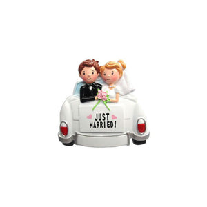 Just Married Car Personalized Christmas Ornament / First Christmas Ornament / Newly Weds / Personalized Ornament