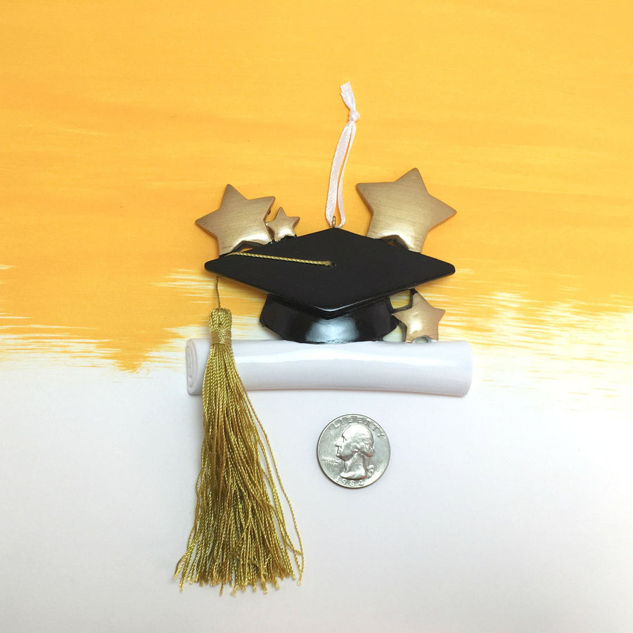 Mortar Board & Diploma Christmas Ornament / College Graduation Ornament / High School Graduation / Graduate Program