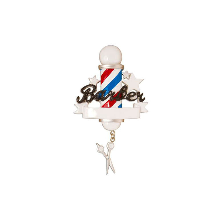 Barber Pole Personalized Christmas Ornament / Barber Shop / Barber / Stylist / Personalized Name or Message