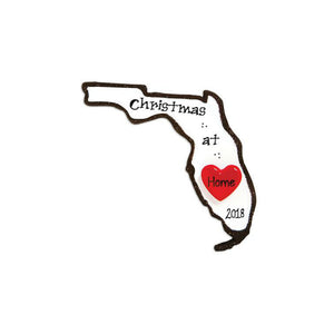 Florida State Personalized Christmas Ornament / Home is Where the Heart is