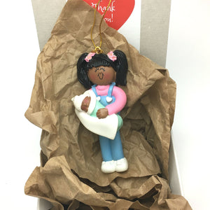Best Big Sister Personalized Christmas Ornament / Sister Ornament / African American