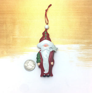 Santa Gnome Personalized Christmas Ornament / Gnomes / Toddler Ornament / Child Ornament