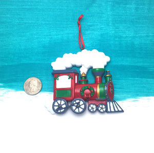Red Choo Choo Train Personalized Christmas Ornament / Christmas Train / Steam Engine