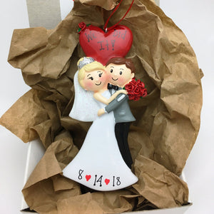 Newly Married Couple Personalized Christmas Ornament / First Christmas / Wedding Ornament