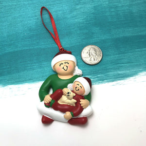 Best Big Sister Personalized Christmas Ornament / Single Parent Ornament