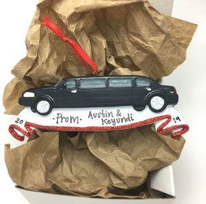 Black Limousine Christmas Ornament / High School Prom