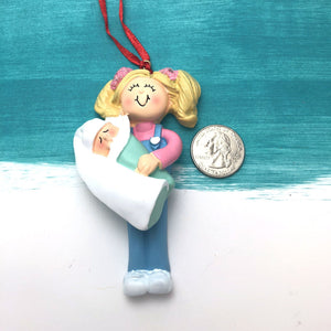 Best Big Sister Personalized Christmas Ornament / Sister Ornament / Blonde