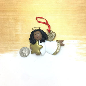 African American Personalized Christmas Ornament