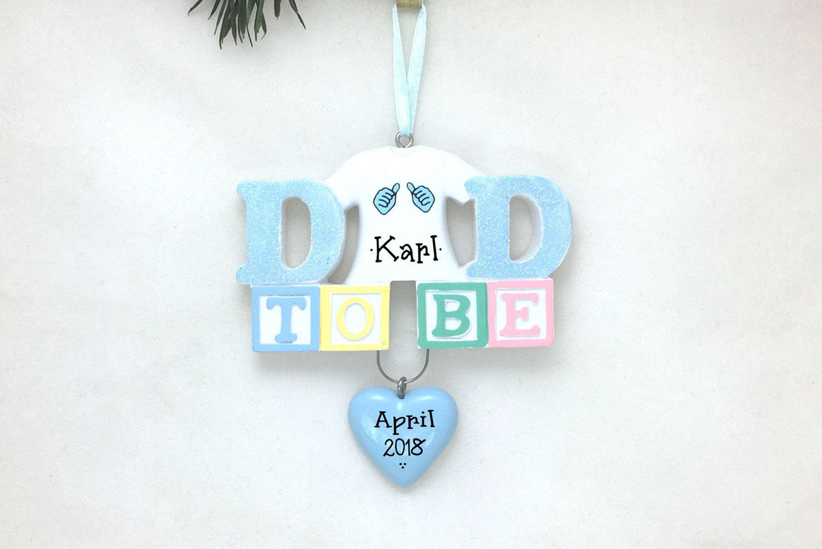 Expecting Father Personalized Christmas Ornament / Dad to Be