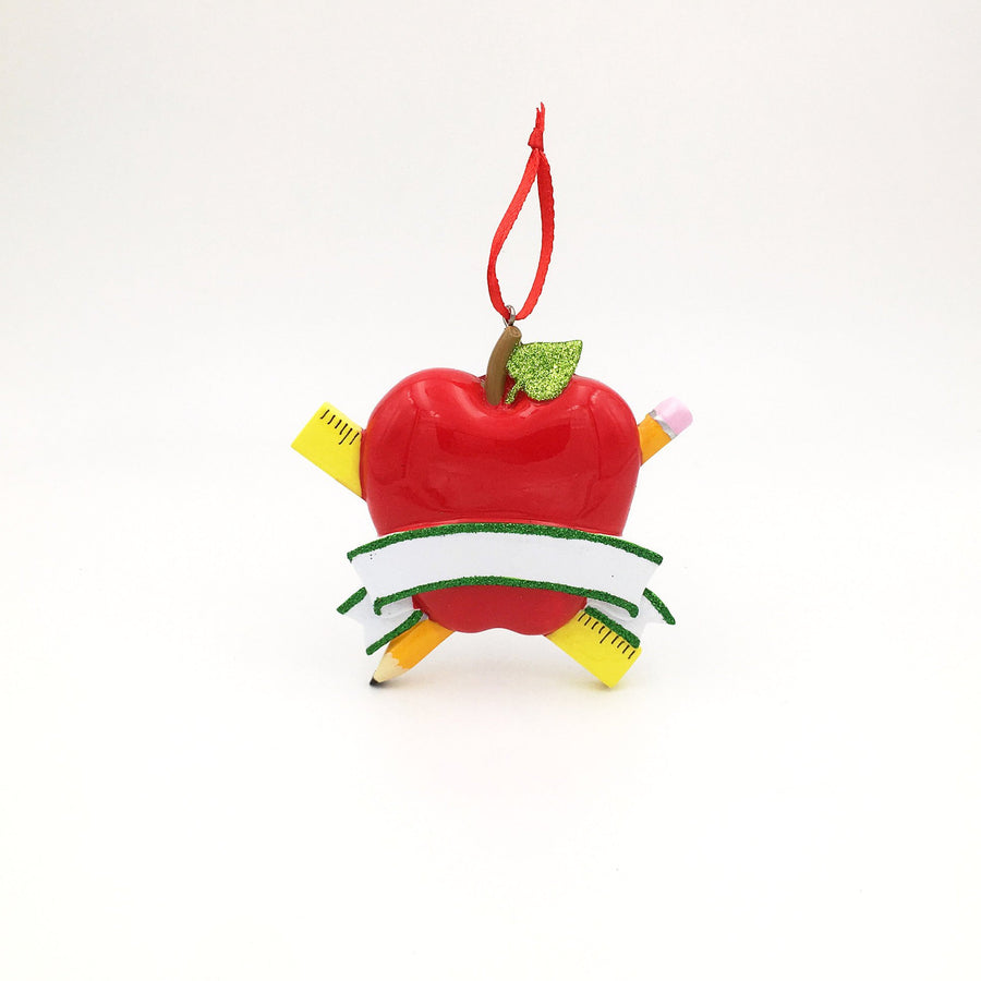 Teacher's Apple Personalized Christmas Ornament / Teacher Ornament