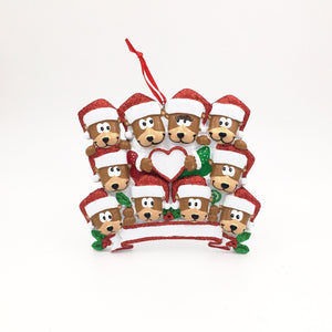 10 Teddy Bears Personalized Christmas Ornament