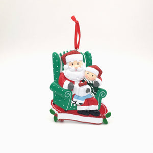 Santa and Child Personalized Christmas Ornament / Santa's Lap