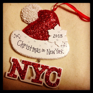 New York City Personalized Christmas Ornament / Christmas in New York