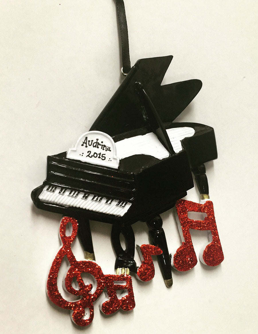 Piano Personalized Christmas Ornament / Pianist Ornament