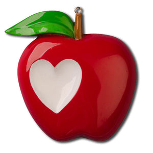 Apple Personalized Christmas Ornament / Favorite Teacher Ornament