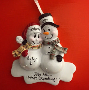 Expecting Parents Personalized Christmas Ornament