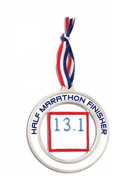 Half-Marathon Runner Personalized Christmas Ornament / Personalized Half-Marathon Ornament / Running Ornament
