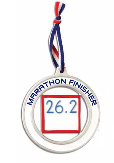 Marathon Runner Personalized Christmas Ornament / Personalized Marathon Medal / Running Ornament / Custom Name, Time, Message