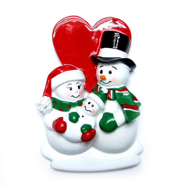 New Parents Christmas Ornament / New Baby Snowmen Ornament / First Christmas Personalized Ornament / New Baby