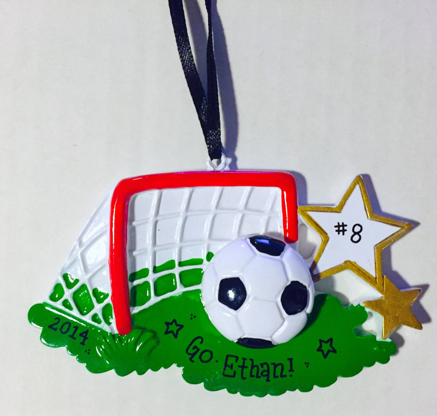 Soccer ornament - Personalized Christmas Ornament