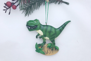T-Rex Personalized Christmas Ornament / Dinosaur Ornament