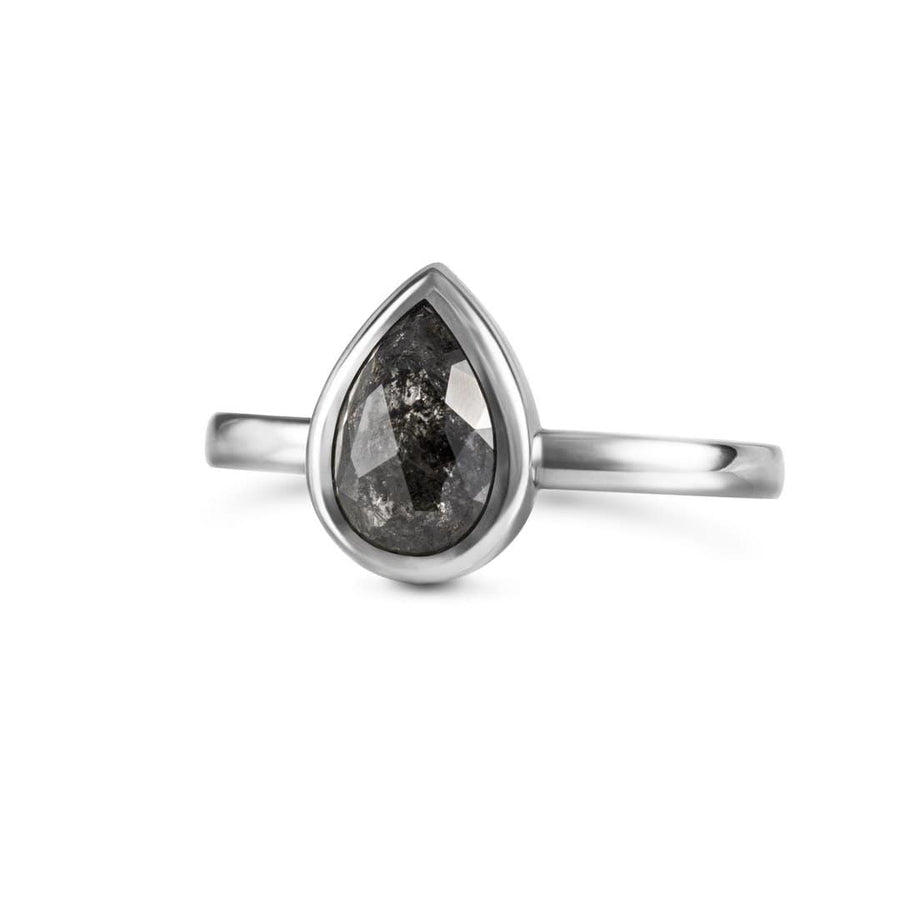 Sophia Perez Jewellery Engagement Ring Black Diamond Solitaire Ring