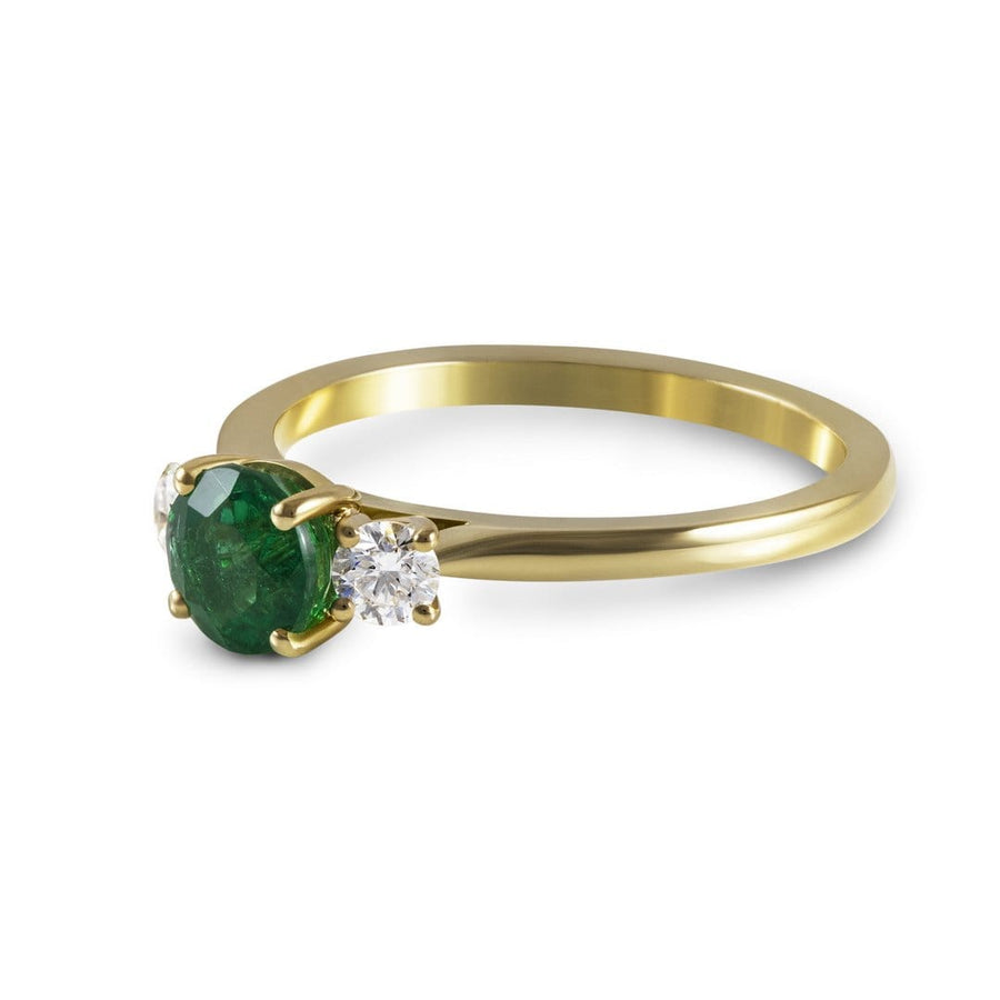 Sophia Perez Jewellery Engagement Ring Emerald and Diamond Engagement Ring