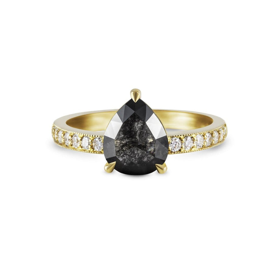 Sophia Perez Jewellery Rings Black Diamond Pave Ring